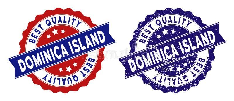 Dominica Island Best Quality Stamp med dammeffekt vektor illustrationer