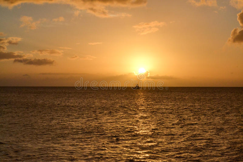 Dominica Island Sunset stock afbeelding