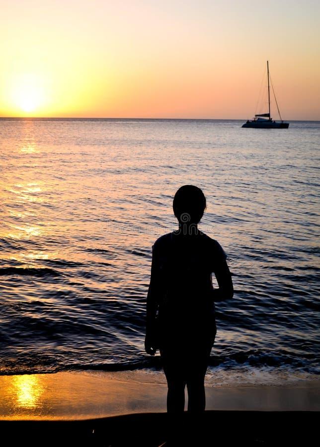 Dominica Island Sunset stock foto