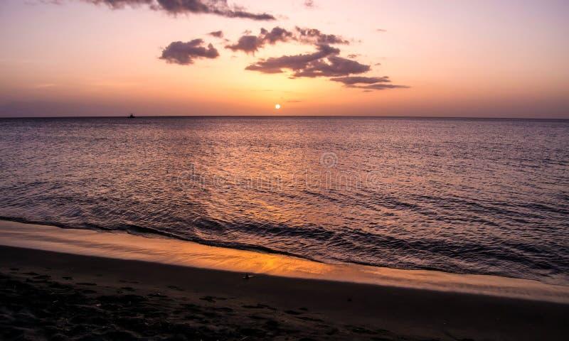 Dominica Island Sunset stock fotografie