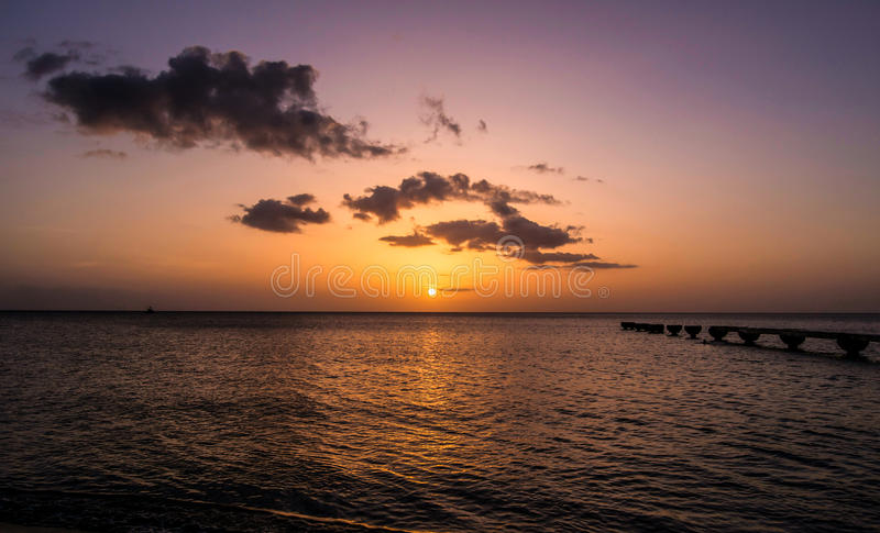 Dominica Island Sunset stock fotografie