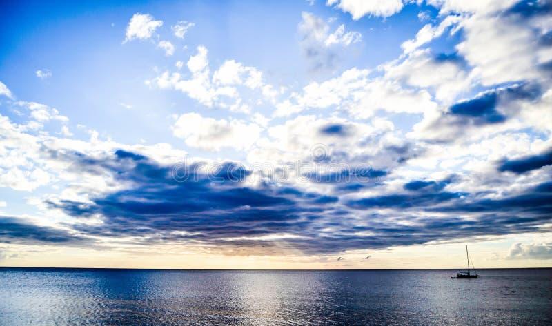 Dominica Island Sunset stock photos