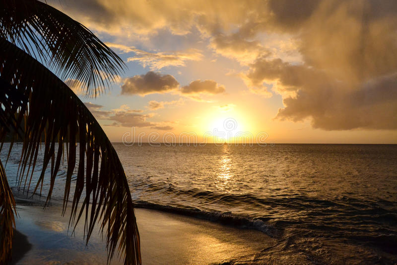 Dominica Island Sunset royalty free stock photography