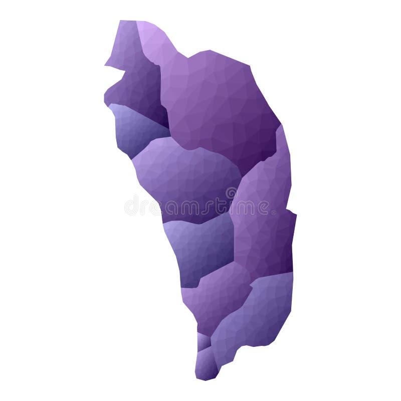 Dominica kaart vector illustratie
