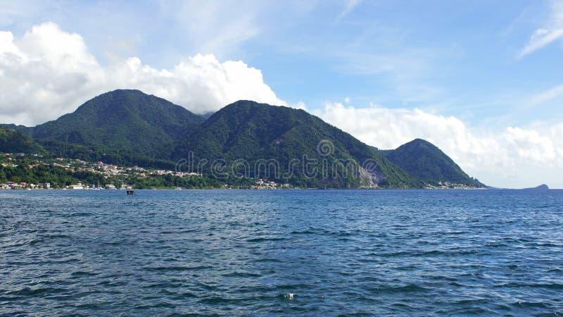 Dominica karibiskt hav arkivfoton
