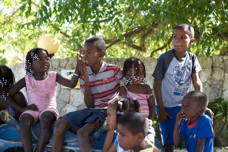 Dominica kinderen royalty-vrije stock foto
