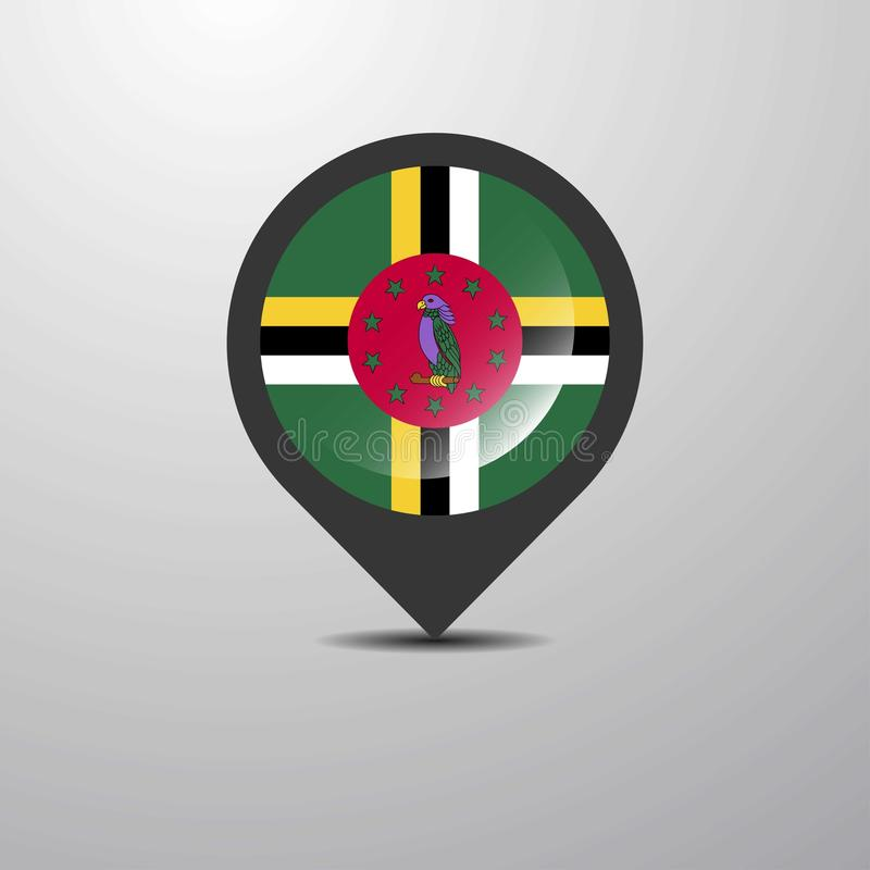 Dominica Map Pin stock illustratie