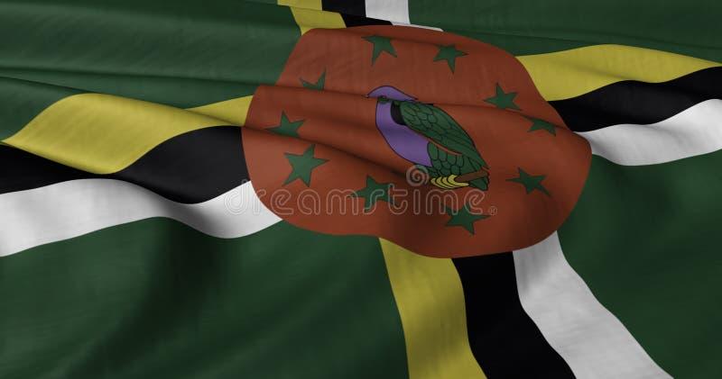 Dominica sjunker vektor illustrationer