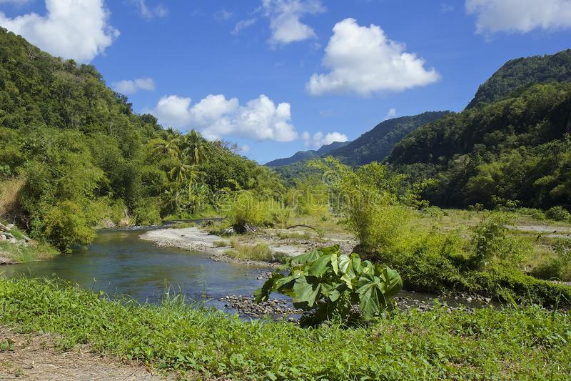 Dominica som är karibisk arkivbild