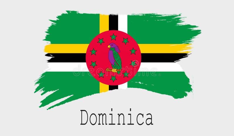 Dominica vlag op witte achtergrond royalty-vrije illustratie