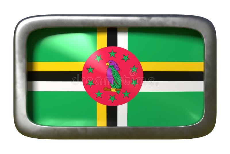 Dominica vlagteken royalty-vrije illustratie