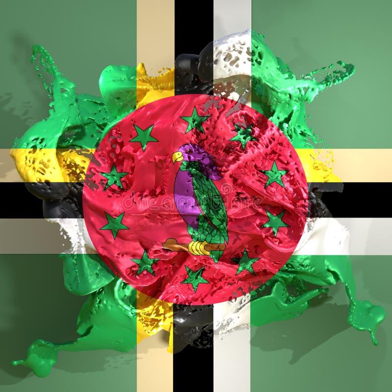 Dominica vlagvloeistof stock illustratie