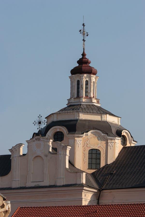 Dominicaanse Kerk van de Heilige Geest in Vilnius stock foto's