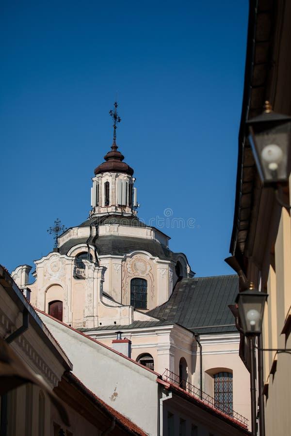 Dominicaanse Kerk van de Heilige Geest in Vilnius stock afbeelding