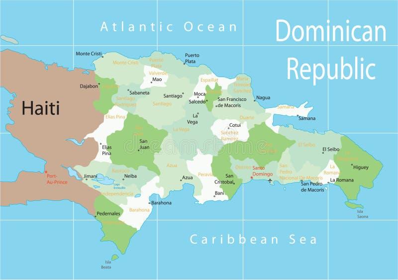 Dominicaanse Republiek. royalty-vrije illustratie