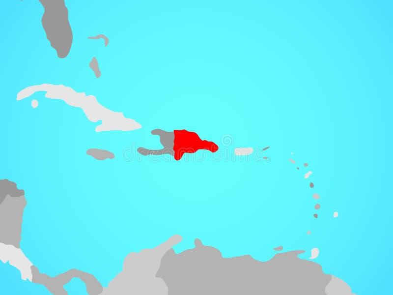 Dominicaanse Republiek op kaart royalty-vrije illustratie