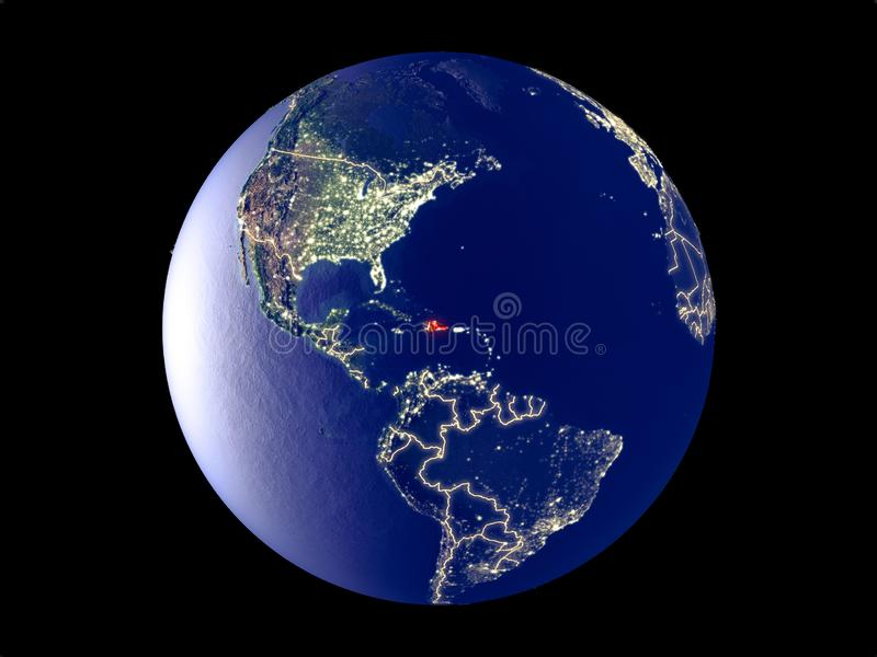 Dominicaanse Republiek ter wereld van ruimte royalty-vrije stock foto's
