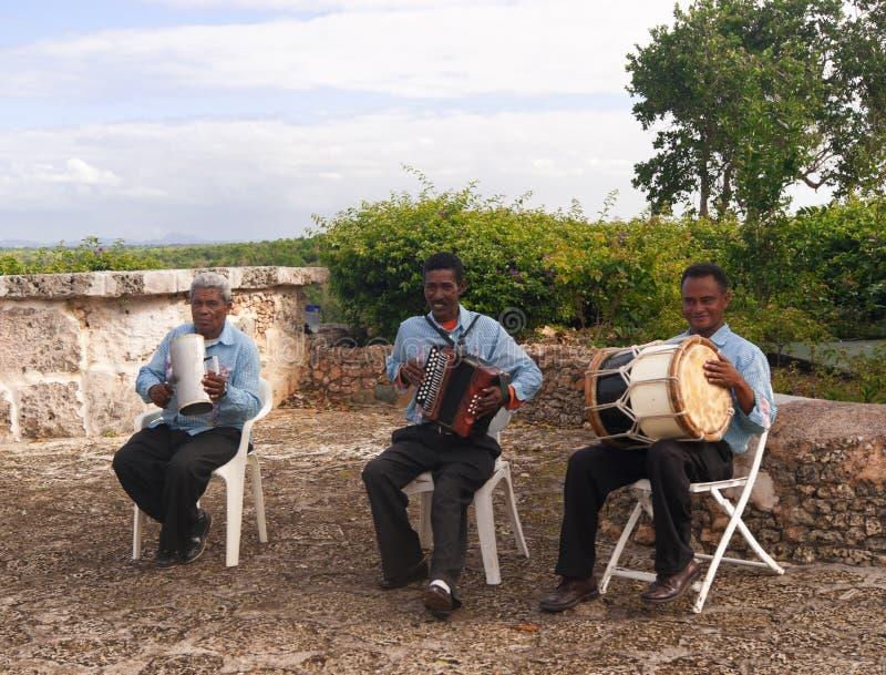 Dominicaanse straatmusici royalty-vrije stock fotografie