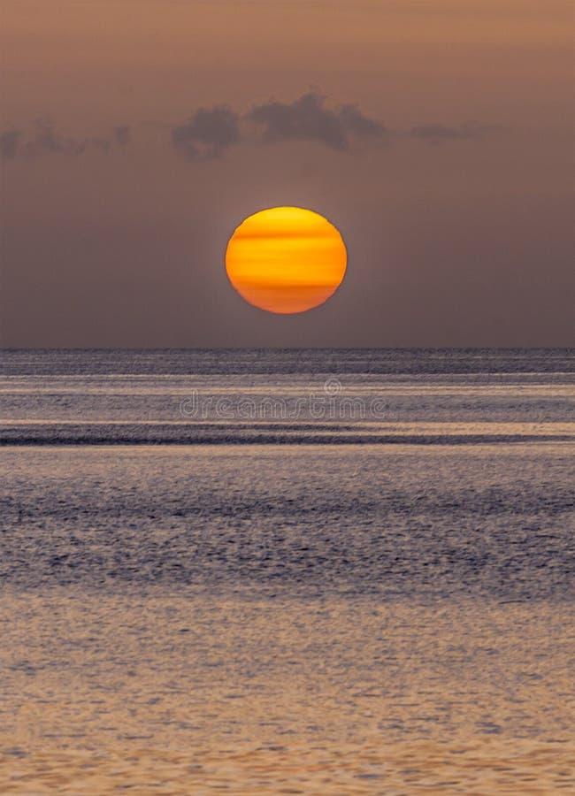 Dominicaanse zonsondergang in de zomer stock foto's