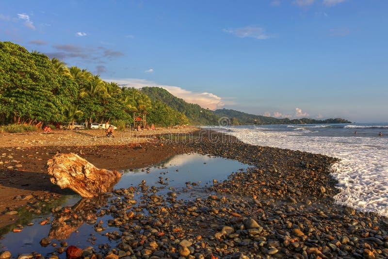Dominical Beach, Costa Rica stock photography