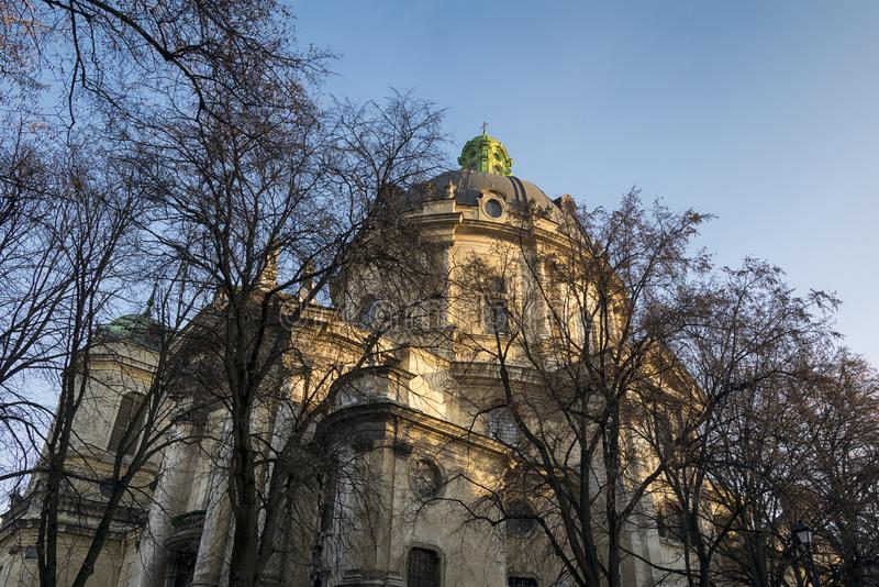 Dominican Cathedral Lviv stock photo