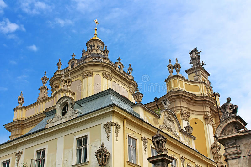 St. Georges Cathedral in Lviv, Ukraine. St. Georges Cathedral, a baroque-rococo cathedral in the city of Lviv, Ukraine royalty free stock photo