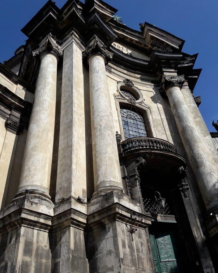 Dominican church and monastery, Lviv, Ukraine royalty free stock photos