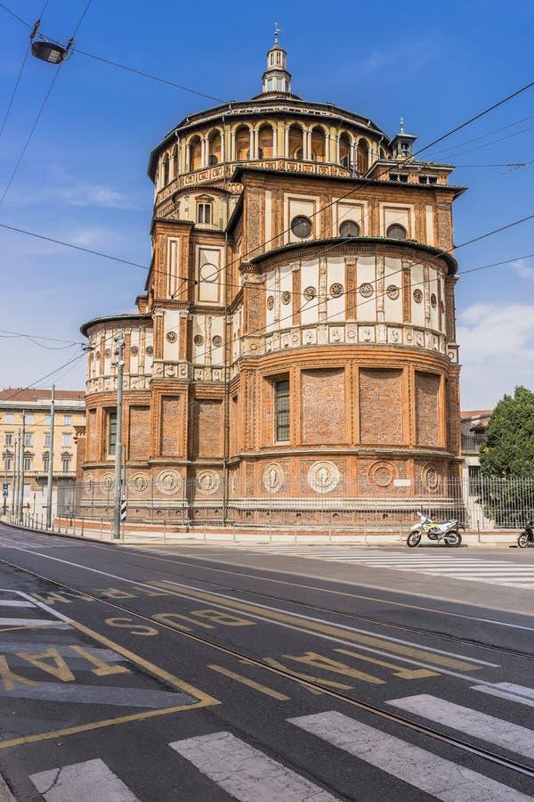 Santa Maria delle Grazie, Milan royalty free stock image