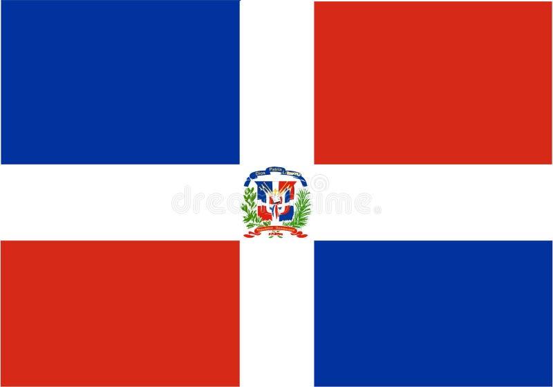 dominican flag republic royaltyfri illustrationer