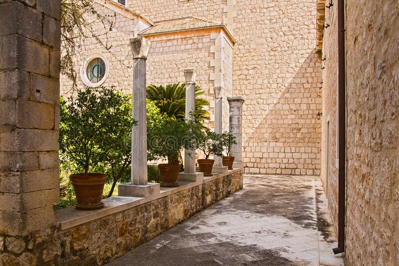 Dominican monastery 4 - Stari Grad, Hvar, Croatia stock photography