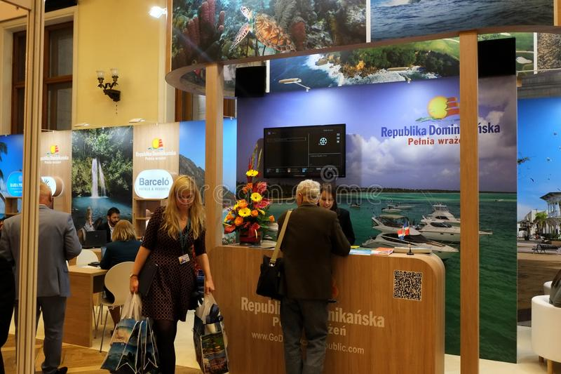 Dominican Republic exhibition at TT Warsaw 2017 royalty free stock photo