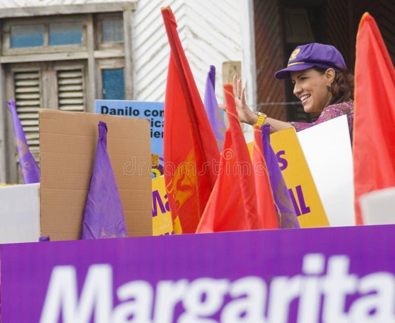 Dominican Republic First Lady Margarita Cedeño. Santiago, Dominican Republic - MARCH 9: Country First Lady Margarita Cedeño campaigns for the Vice stock photo