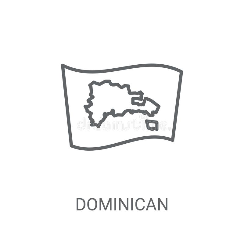 Dominican Republic flag icon. Trendy Dominican Republic flag log royalty free illustration
