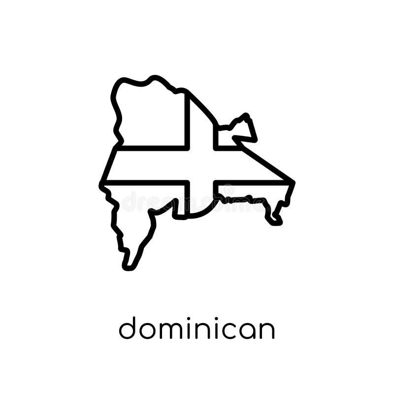 Dominican Republic flag icon. Trendy modern flat linear vector D stock illustration