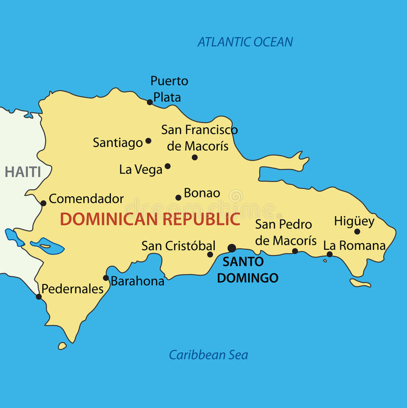 Dominican Republic Map Of Country Vector Stock Vector