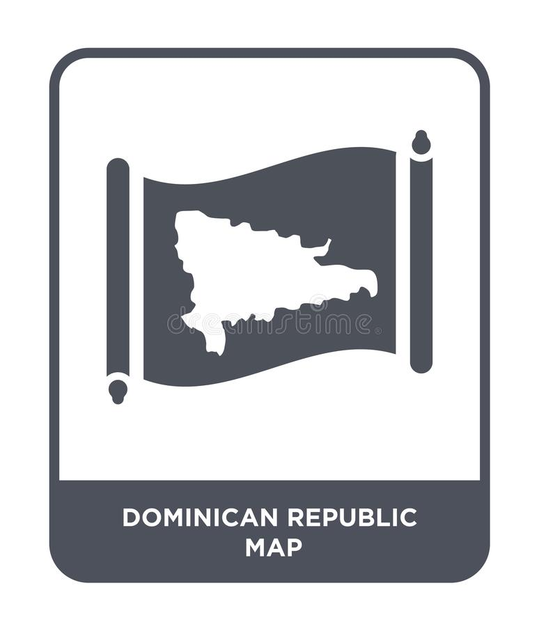 Dominican republic map icon in trendy design style. dominican republic map icon isolated on white background. dominican republic. Map vector icon simple and stock illustration