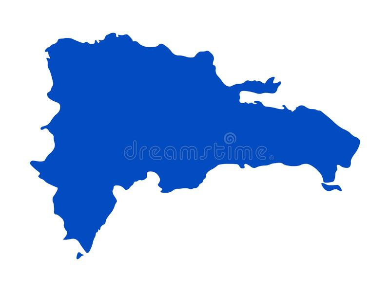 Dominican Republic map - island country in the Greater Antilles archipelago of the Caribbean region. Vector file of Dominican Republic map - island country in vector illustration