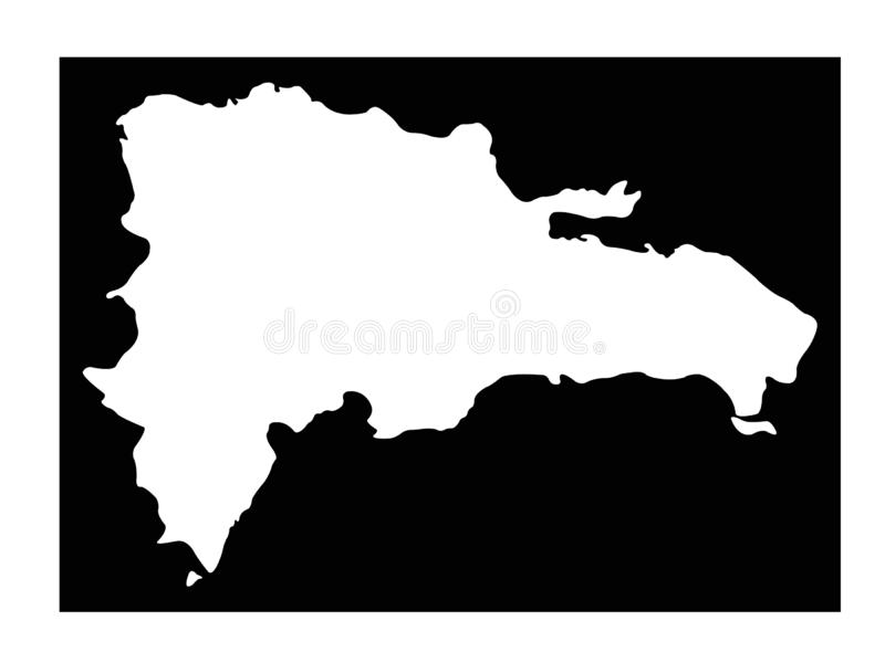 Dominican Republic map - island country in the Greater Antilles archipelago of the Caribbean region. Vector file of Dominican Republic map - country located in vector illustration