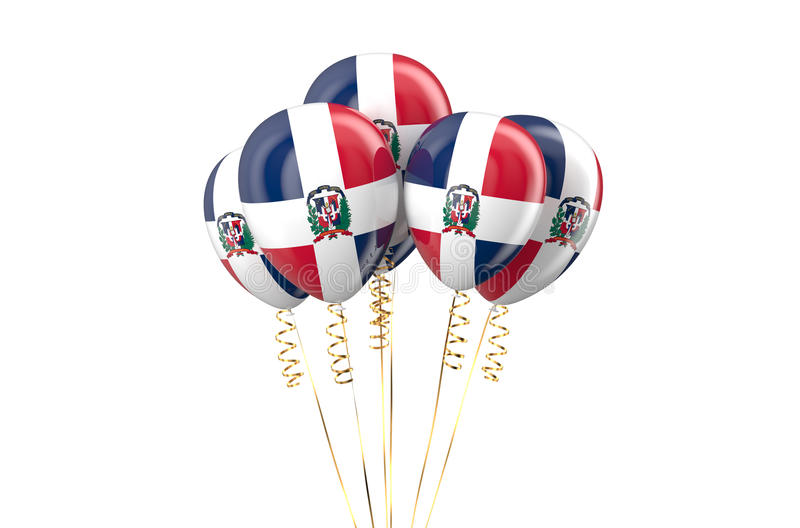 Dominican Republic patriotic balloons holyday concept. Dominican Republic patriotic balloons, holyday concept isolated on white background vector illustration