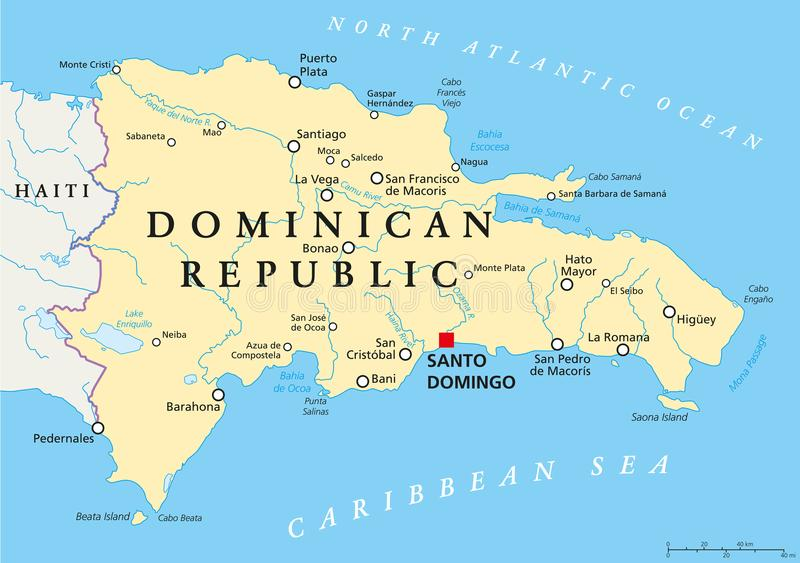 Dominican Republic Political Map royalty free illustration
