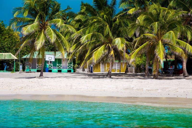 Dominican Republic, Punta cana, Saona Island - Mano Juan Beach. Fishermen`s village royalty free stock photography