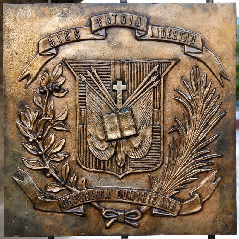 Dominican Shield stock photo