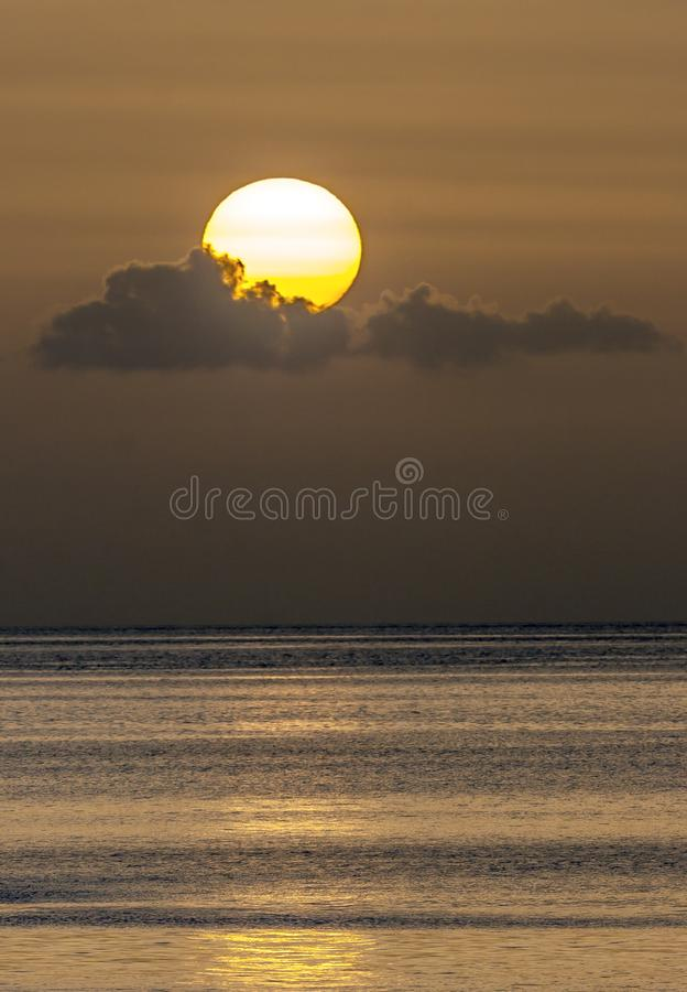 Dominican sunset in summer royalty free stock image