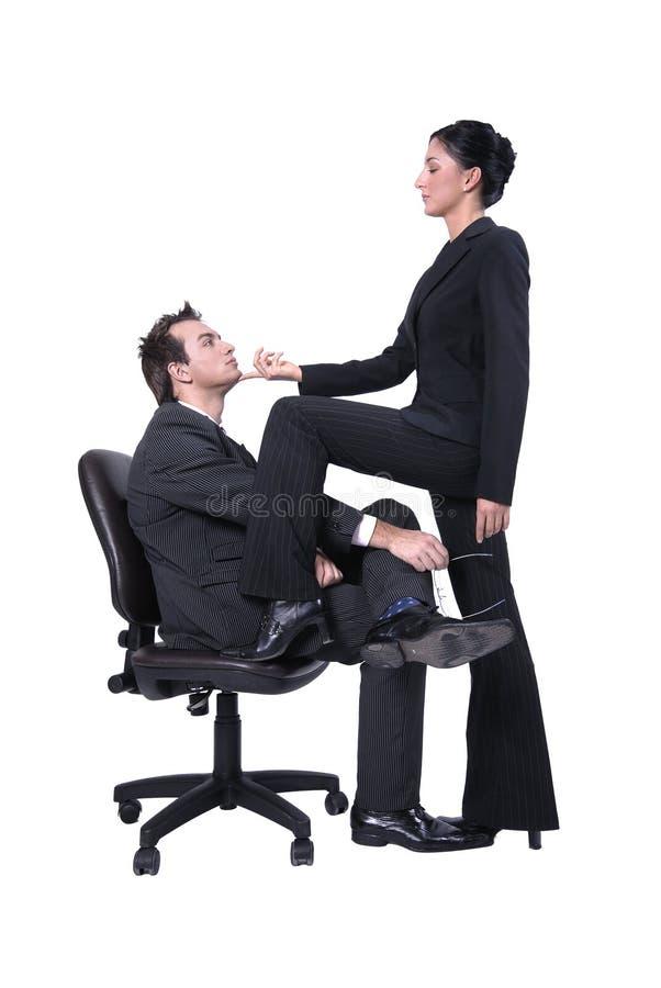 Dominierende Frau - Geschäft lizenzfreies stockfoto