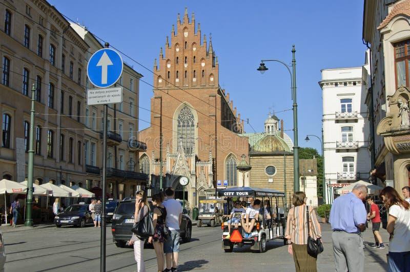 Dominikański kościół Święta trójca w Krakow zdjęcia stock