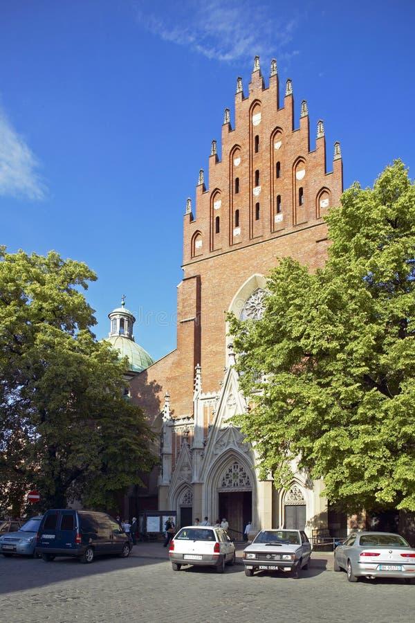 Dominikański kościół w Krakow zdjęcie royalty free