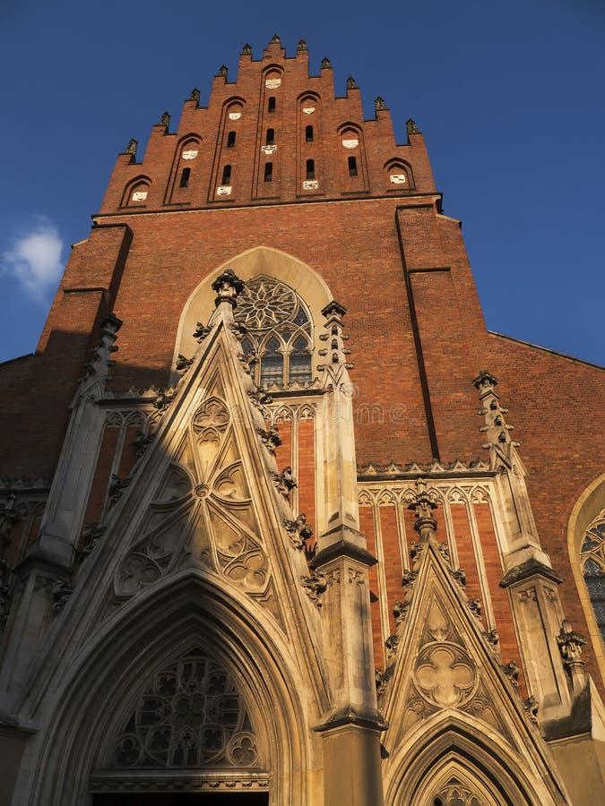 Dominikański kościół w Krakow Polska fotografia stock