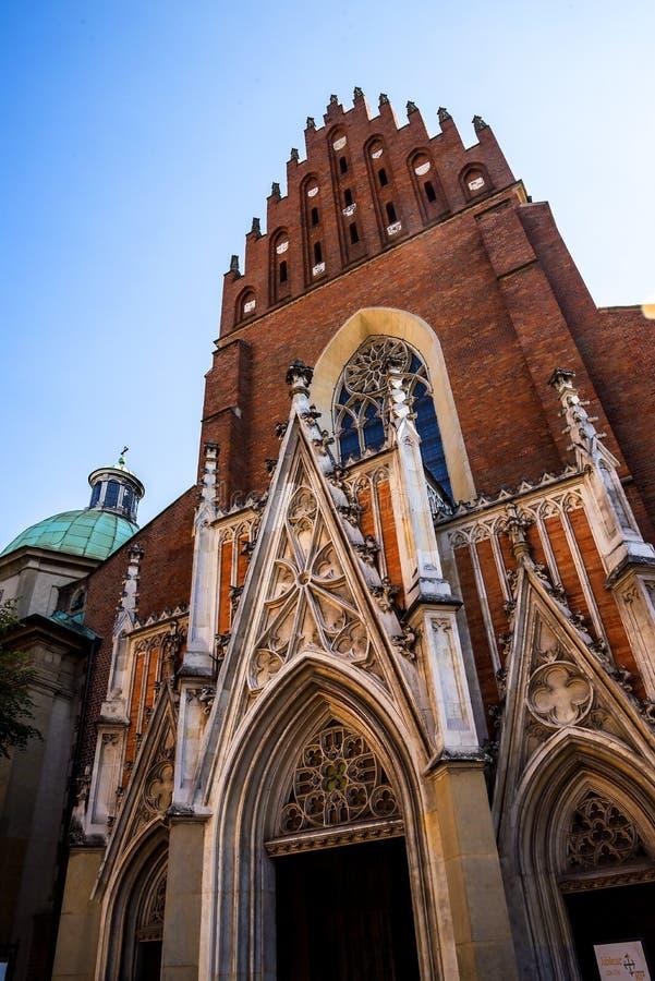 Dominikański kościół w Krakow Polska fotografia royalty free