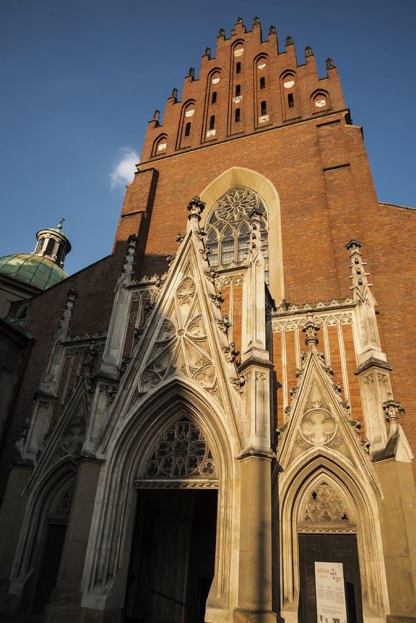 Dominikański kościół w Krakow Polska obraz stock