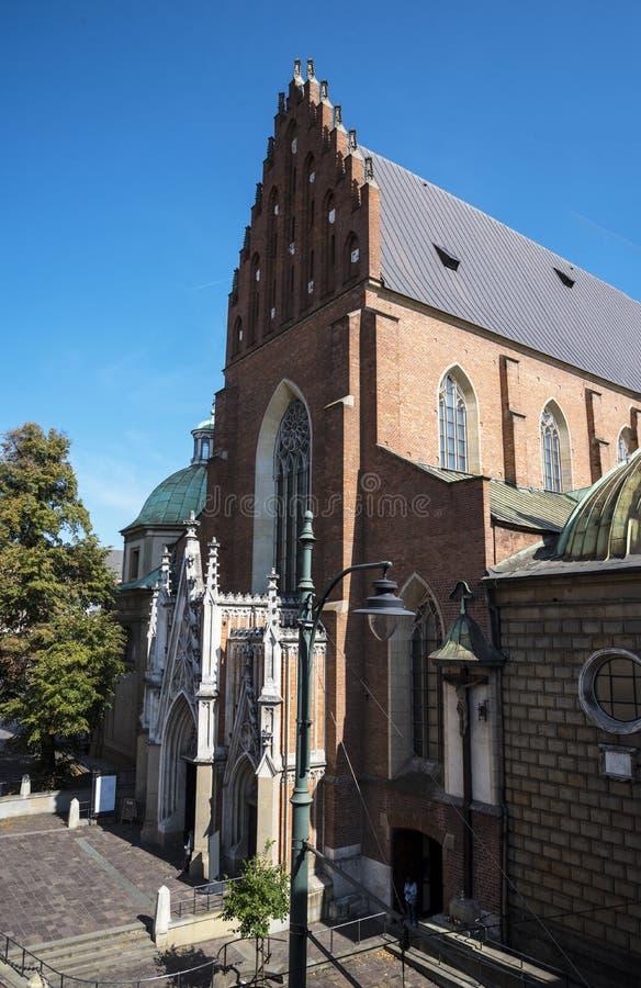 Dominikański kościół w mieście Krakow w Polska zdjęcie stock